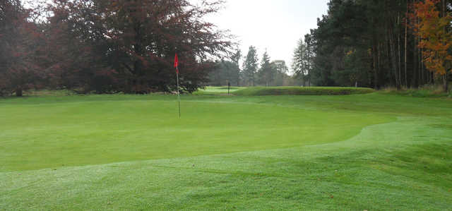 A view of a green at Edzell Golf Club.