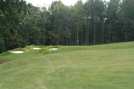 A view of the 18th green at Coweta Club from Arbor Springs Plantation