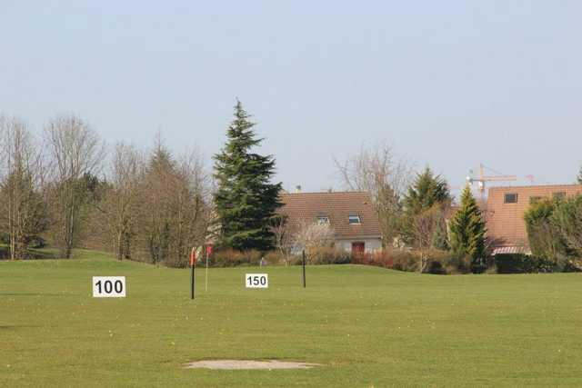 A view of the driving range at Cergy Pontoise Golf Club