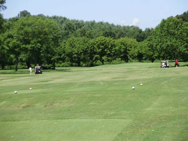 A view from a tee at Cedar Rock Country Club
