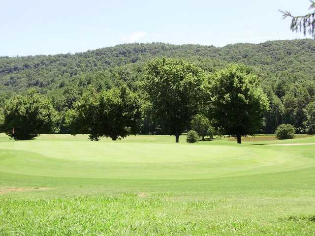 A view of a hole at Cedar Rock Country Club