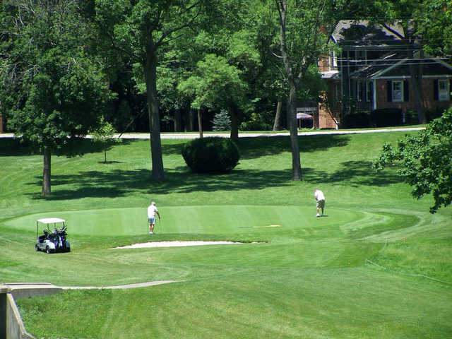 A view of a green at Moose Golf Course