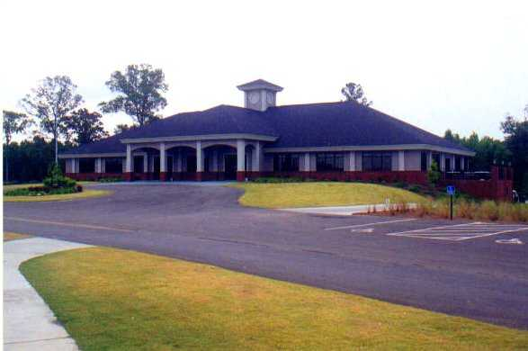 A view of the clubhouse at Crosswinds Golf Club