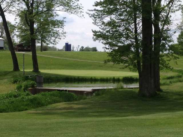 A view of the 3rd green at Meadow from North Branch Golf Course