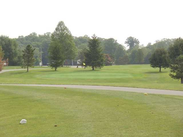 A view from tee #2 at Bridge from North Branch Golf Course
