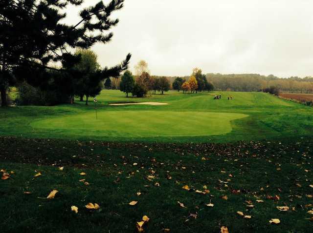 A fall view of a hole at Gadancourt Golf Club