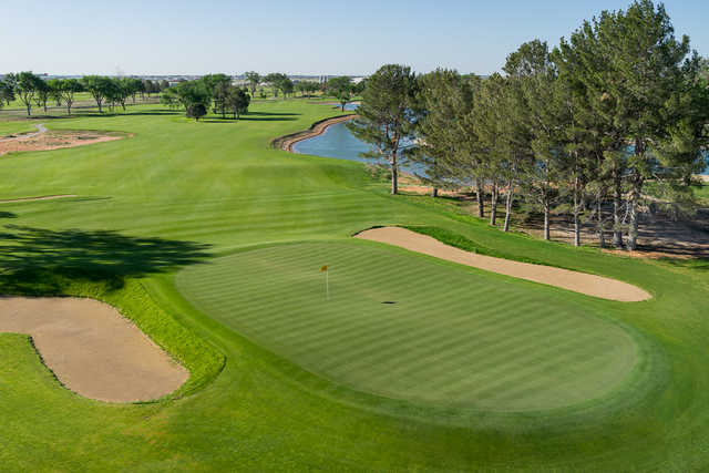 A view from the 18th hole at Championship Course at Rockwind Community Links
