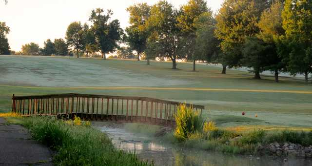 A view of a fairway at Lone Oak Golf Course