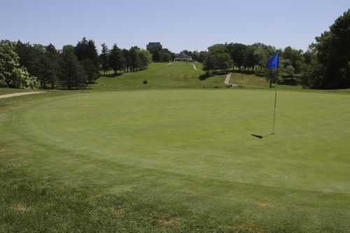 A view of a green at Blue from Highland Park Golf Course