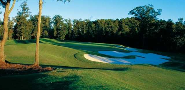 A view of a hole protected by tricky bunkers at  Chancellors from Georgia Club
