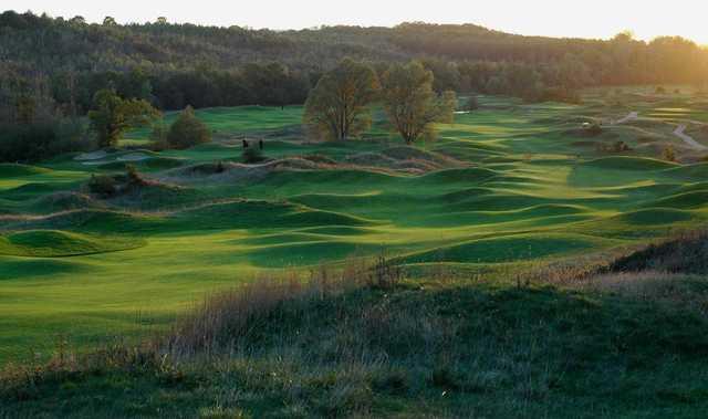 A view from Stade Francais Courson Golf Club.