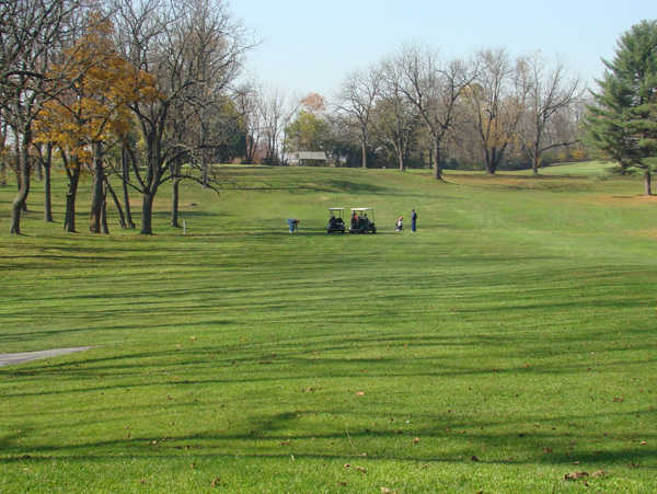 A view of a fairway at Arrowhead Golf Course
