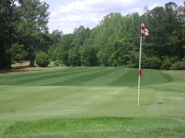 A view of green #15 at Hartsville Country Club