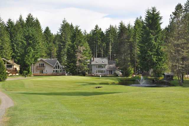 A view from a fairway at Lake Cushman Golf Course