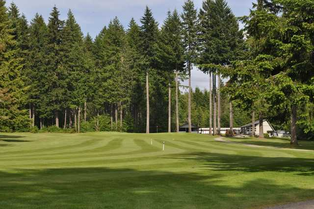 A view from Lake Cushman Golf Course