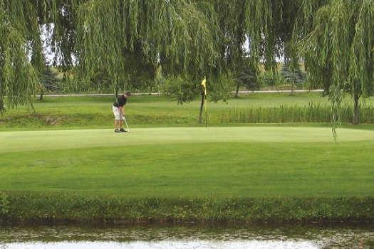 A view of a green at The Club At Silver Lake
