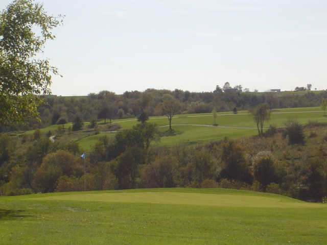 A view of the 3rd hole at Prairie from Deer Valley Golf Course