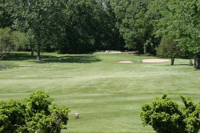 A view of green #13 at Beaver Dam Country Club