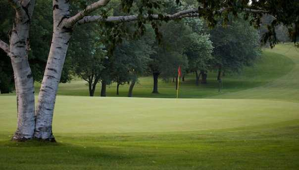 A view of green #9 at Old Hickory Country Club