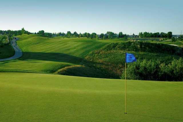A view of a hole at Lynx Ridge Golf Club