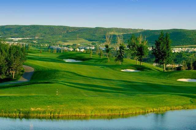 A view of a fairway at Lynx Ridge Golf Club