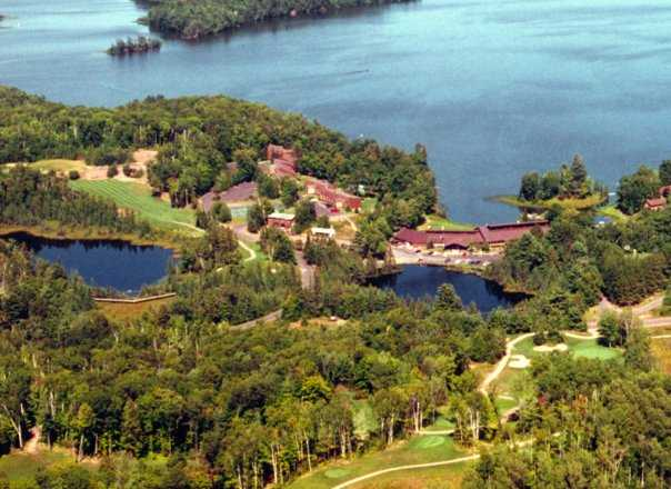 Aerial view from Lakewoods Forest Ridges Golf Course