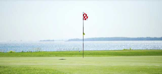 A view of a green at Club de Golf Atlantide