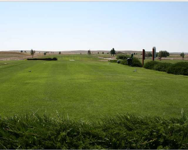 A view of a tee at Hay Creek Golf Course
