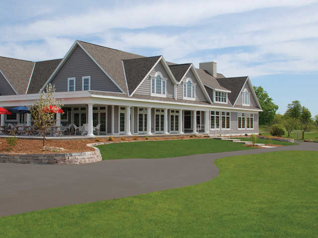 A view of the clubhouse at Egg Harbor - The Orchards Course