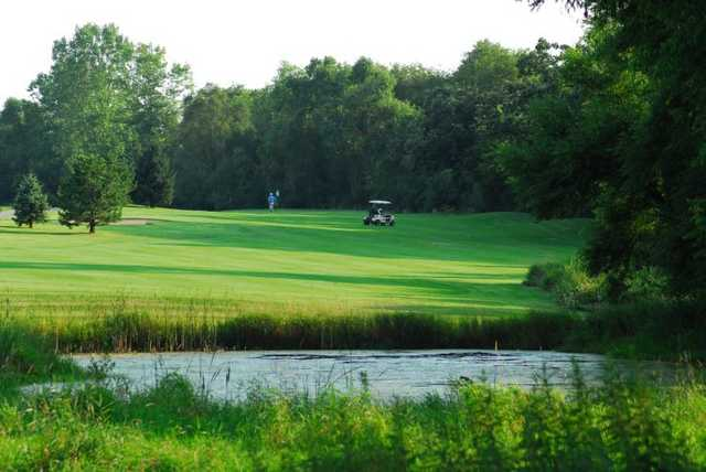 A view of hole #5 at Evergreen Golf Club - East Course