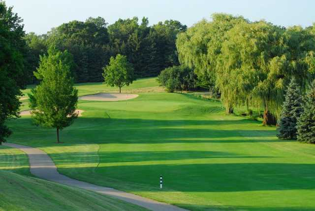 A view of the 1st hole at Evergreen Golf Club - North Course