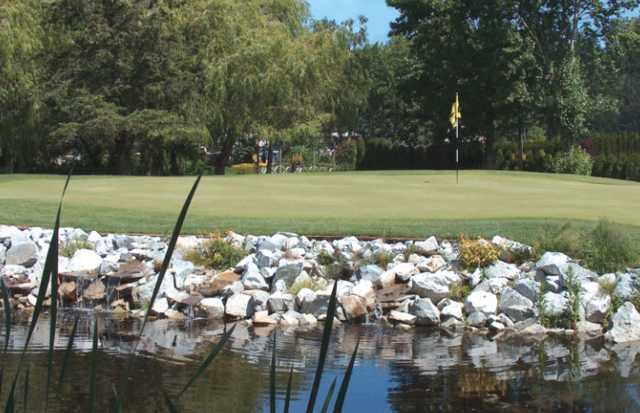 A view of a green at Delta Golf Club