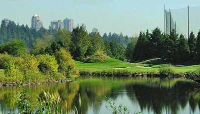 A view over the water from Riverway Golf Course