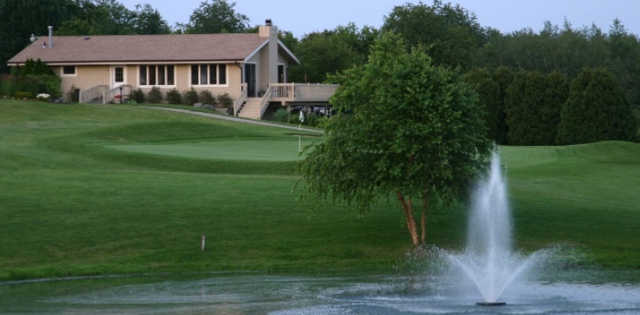 A view from Country Club Estates with the pro shop in background