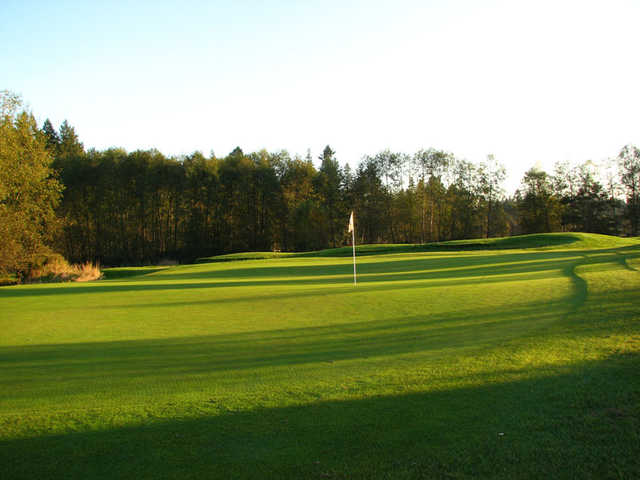 A view of a hole at Golden Eagle Golf Club