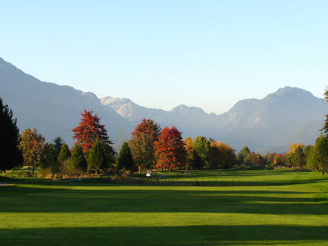A view of a fairway at Golden Eagle Golf Club