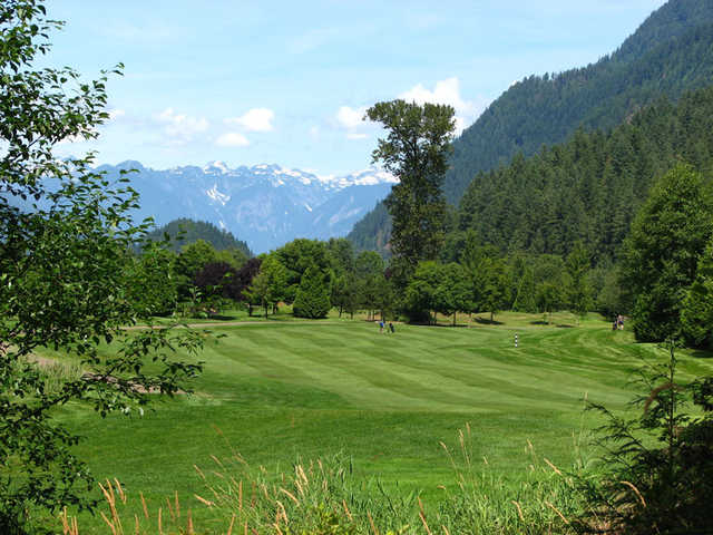 A sunny day view from Golden Eagle Golf Club