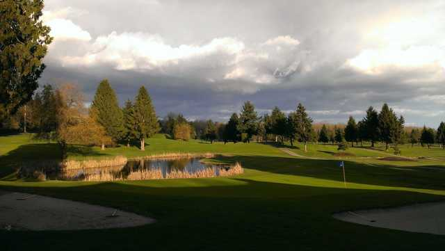 A view of a hole at Fort Langley Golf Course