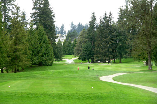 A view from a tee at Peace Portal Golf Club