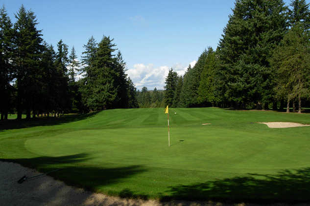 A view of a green at Peace Portal Golf Club