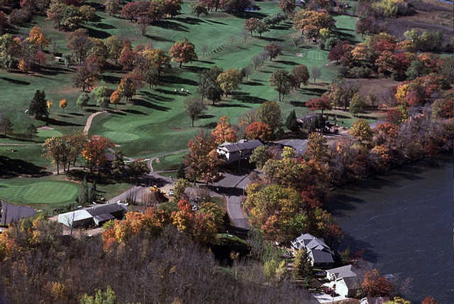 Aerial view from Luck Golf Course