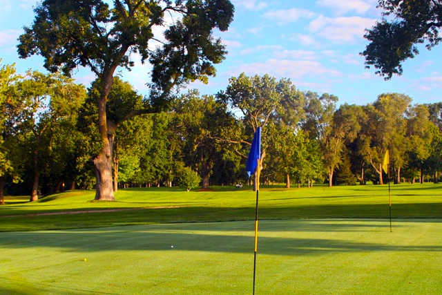 A sunny day view from Christiana Creek Country Club