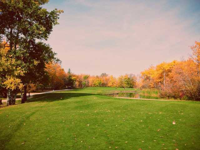 A fall view from Teulon Golf and Country Club