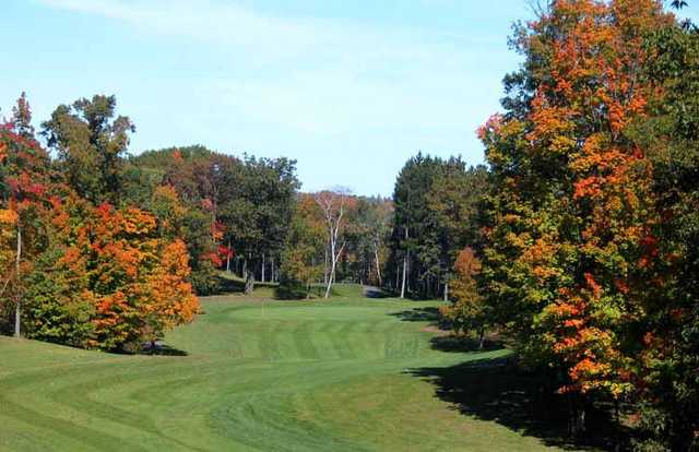 An autumn view from Luck Golf Course