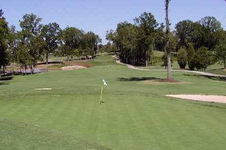 A view of a hole at Birkdale Golf Club