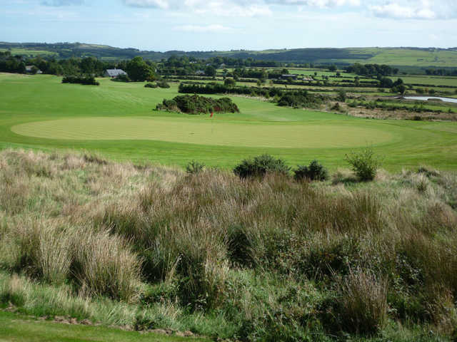 A view of a hole at Ballinastoe Golf Club