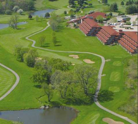 Aerial view from The House on the Rock Resort and Golf Club