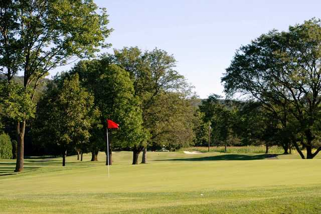 A view of the 4th green at Hidden Valley Golf Course