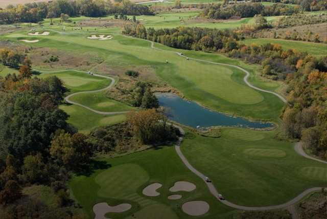 Aerial view from University Ridge Golf Course