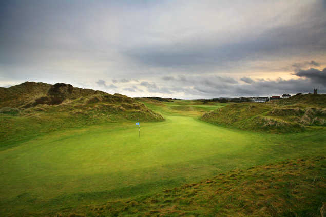 A view of hole #9 at Bann from Castlerock Golf Club